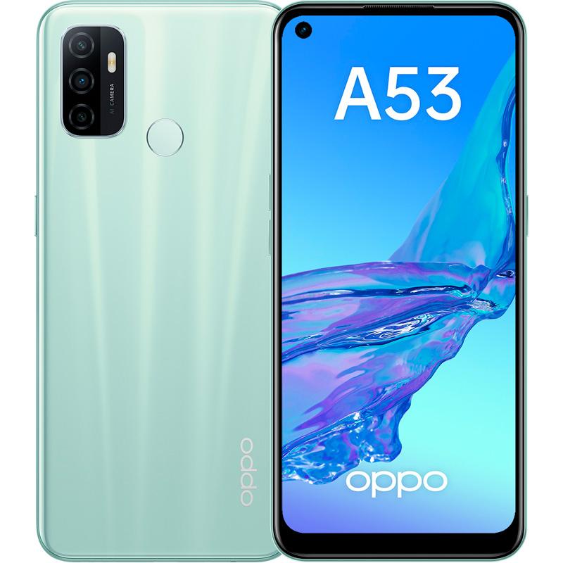 Смартфон OPPO A53 4/64GB мятный 5982546 - низкая цена, доставка или самовывоз по Челябинску. Смартфон ОППО A53 4/64GB мятный купить в интернет магазине ОНЛАЙН ТРЕЙД.РУ