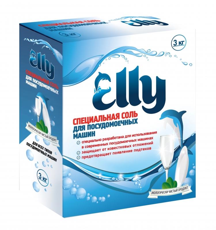 Соль ELLY для посудомоечных машин, 3кг