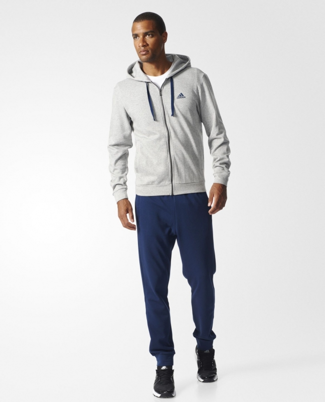 22b32e7b4687 Спортивный костюм ADIDAS Co Energize Ts BK2669 мужской, цвет серый-синий,  рус.