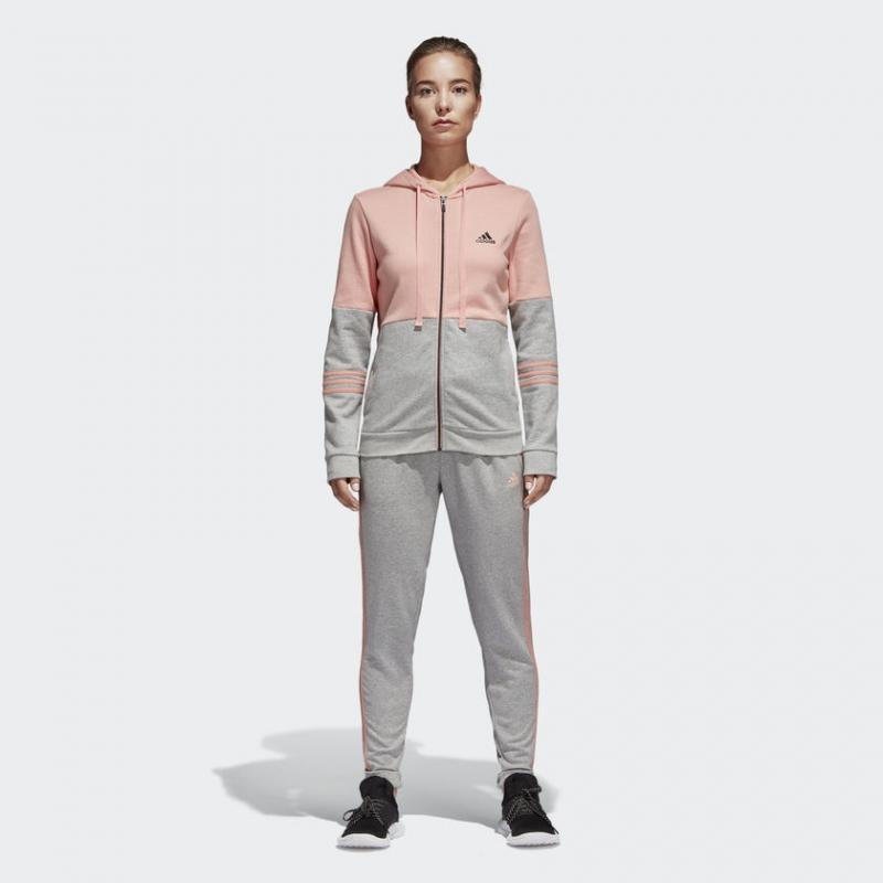 4c32625a Спортивный костюм Adidas CZ2330 WTS CO ENERGIZE женский, цвет  серый/розовый, размер 40