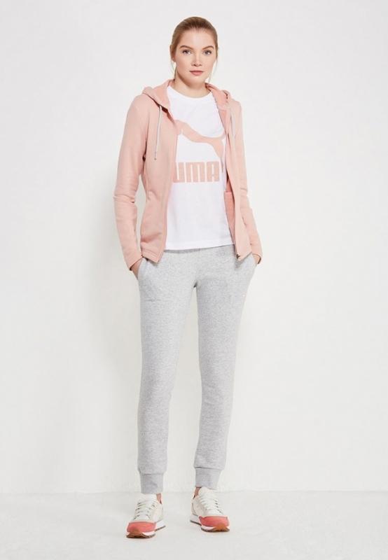Спортивный костюм PUMA 85021731 Classic Sweat Suit женский, цвет  серый-розовый, размер 44 bb87de8efdf