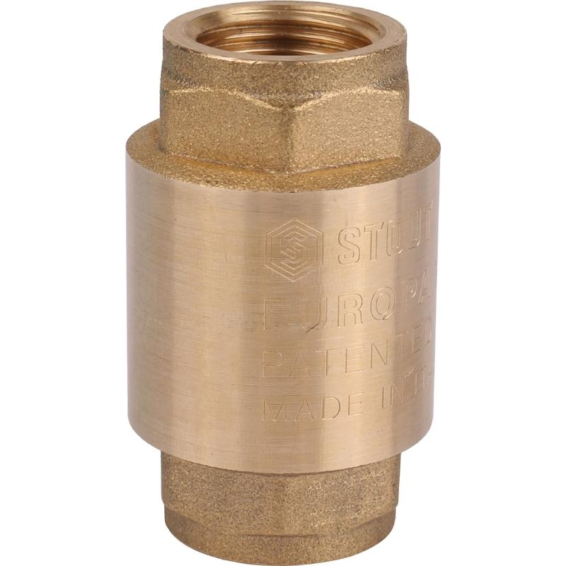 Клапан обратный STOUT 1/2 пружинный муфтовый с металлическим седлом SVC-0011-000015 - купить по выгодной цене в интернет-магазине ОНЛАЙН ТРЕЙД.РУ Брянск