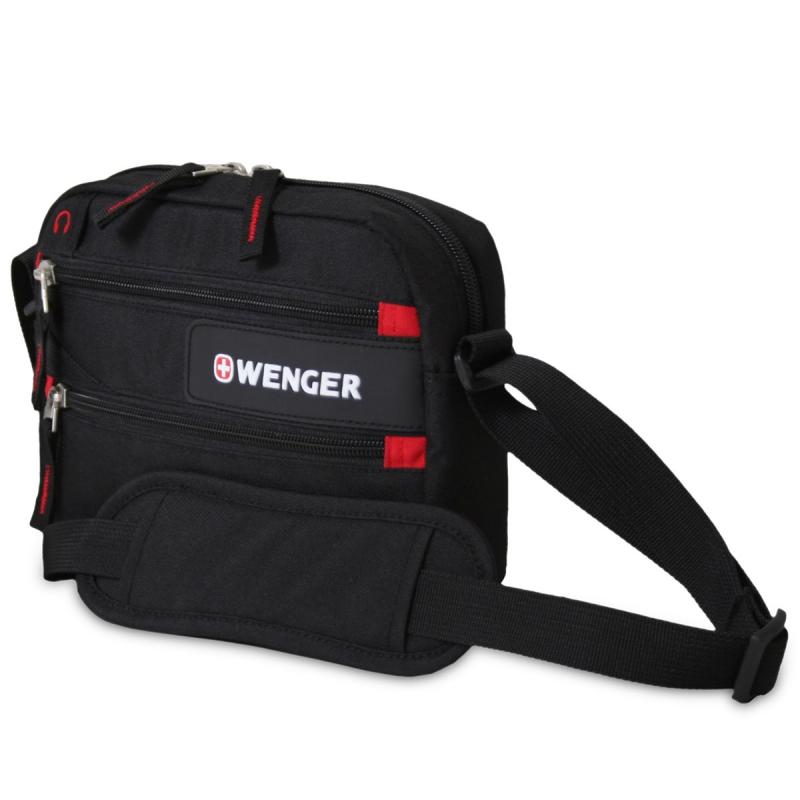 f5be457c44b5 Сумка мужская через плечо WENGER 18322135 Horizontal accessory bag, черный /красный