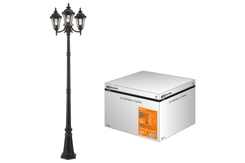 Парковый светильник Вена 3х60 Вт, H2300 мм, TDM SQ0330-2010 - купить по выгодной цене в интернет-магазине ОНЛАЙН ТРЕЙД.РУ Тула
