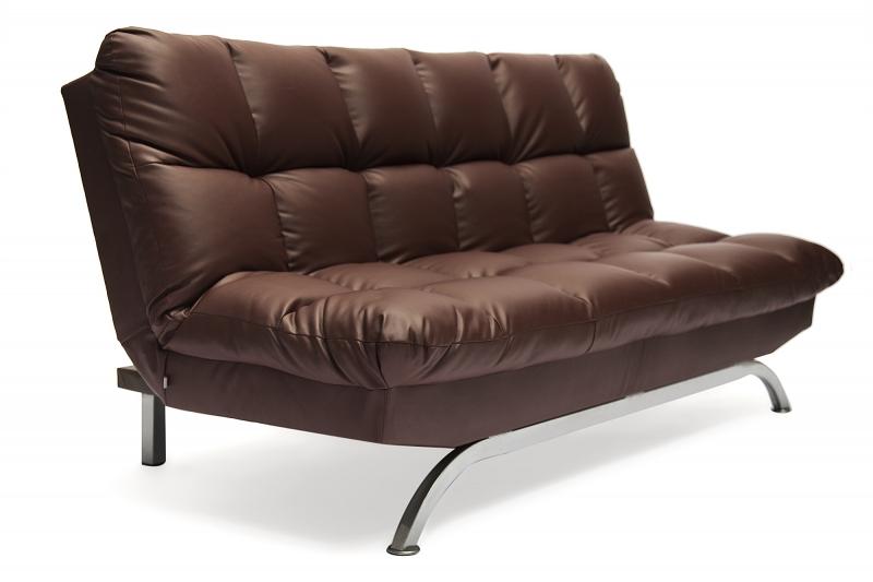 диван кровать Amerillo кожзам коричневый купить в интернет