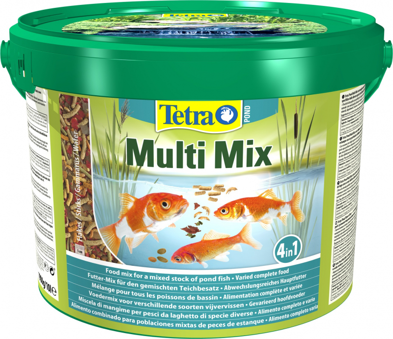Корм для прудовых рыб Tetra Pond Multi Mix 10 литров — купить в интернет-магазине ОНЛАЙН ТРЕЙД.РУ