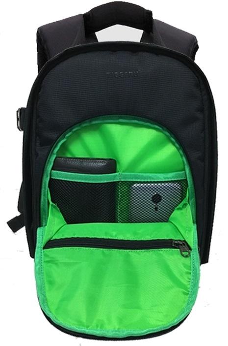 db16337f24e5 Рюкзак Tigernu T-X6007, черный с зеленым (12 литров) Изображение 5 -