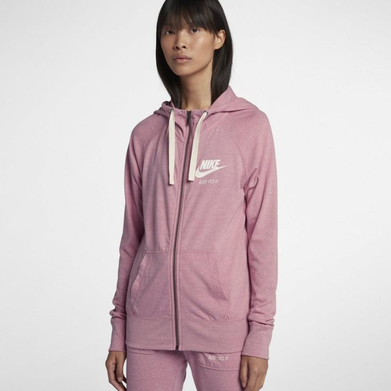 d5fd646d4433 Толстовка NIKE 883729-678 Sportswear Hoodie женская, цвет розовый, размер  42-44