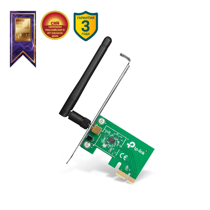 Адаптер TP-LINK TL-WN781ND Wireless PCI-E 802.11n/150 Mbps — купить в интернет-магазине ОНЛАЙН ТРЕЙД.РУ