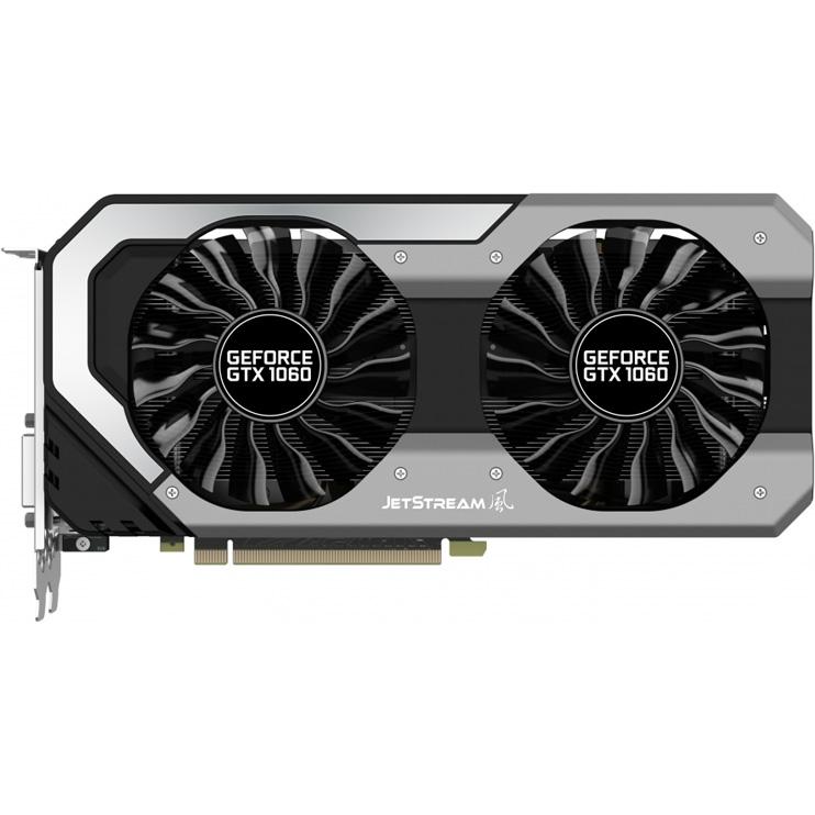 Видеокарта Palit GeForce GTX 1060 1506Mhz PCI-E 3 0 6144Mb 8000Mhz 192 bit  DVI HDMI DisplayPort JetStream (NE51060015J9-1060J)