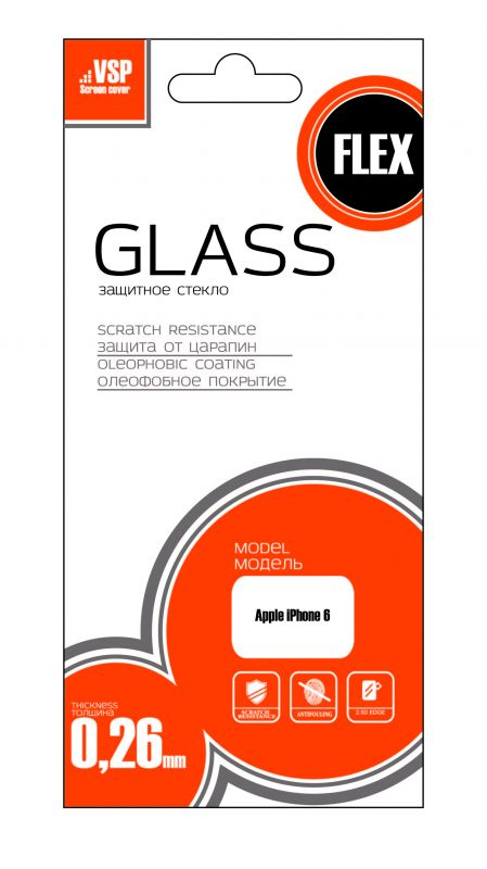 Защитное стекло VSP HybridGlass 0,26 мм для Apple Iphone 6 13932 - купить по выгодной цене в интернет-магазине ОНЛАЙН ТРЕЙД.РУ Санкт-Петербург