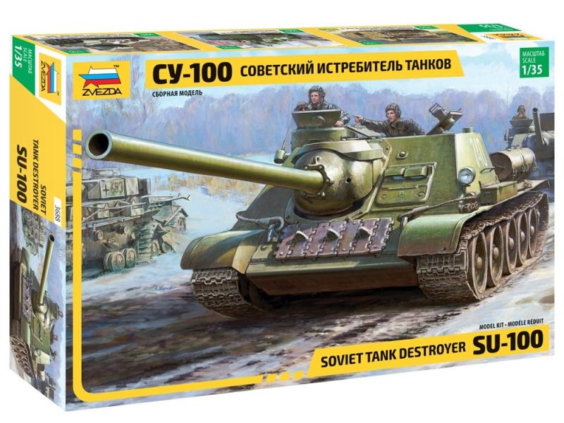 c6463ef02 Сборная модель ЗВЕЗДА 3688 Советский истребитель танков СУ-100 Изображение 1  - купить в интернет