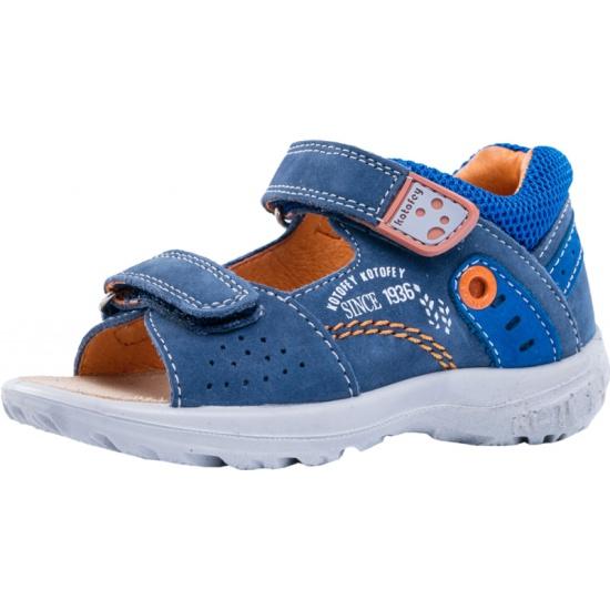 fefe4c63b Сандалии КОТОФЕЙ 122070-25 для мальчиков, цвет синий/оранжевый, рус.размер