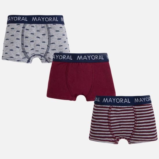 Трусы детские MAYORAL 10029 для мальчика, цвет бордовый серый, возраст 12  лет, ... 153ad32233d