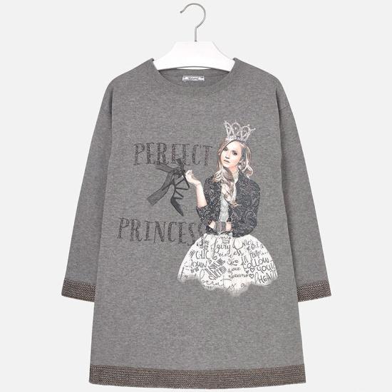 Платье MAYORAL 7938 для девочки, цвет серый, возраст 14 лет, рост 157 — купить в интернет-магазине ОНЛАЙН ТРЕЙД.РУ