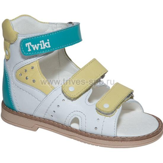 4bb21fd32 Сандалии детские ортопедические TWIKI TW-173, цвет бело-желтый, размер 27 -