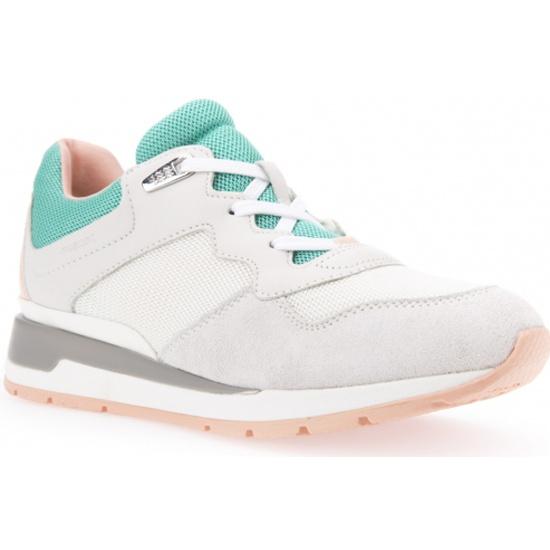 5ea010b1 Кроссовки GEOX D62N1B08514C0868 женские, цвет молочный, рус. размер 40 - купить  в интернет