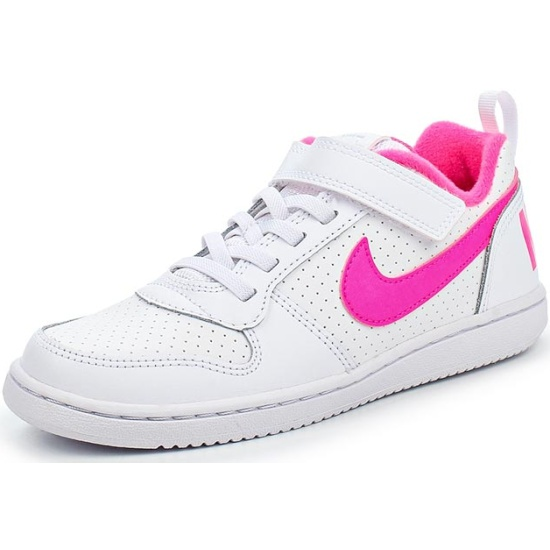 7d4d03a5ff03 Кроссовки NIKE Court Borough Low 870028-100 для девочки, цвет белый, рус.