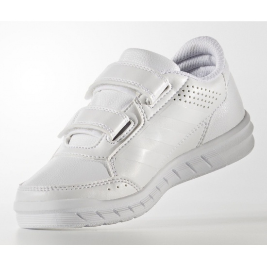 Polo reducir texto  Кроссовки ADIDAS AltaSport BA9524 для девочки, цвет белый, размер 30 —  купить в интернет-магазине ОНЛАЙН ТРЕЙД.РУ