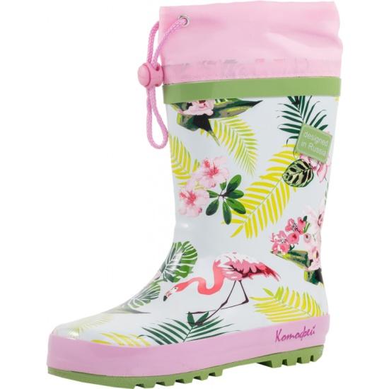 dd928b333 Резиновые сапоги КОТОФЕЙ 566130-11 для девочки цвет розовый рус. размер 35  - купить