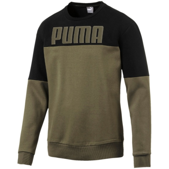 23541051 Толстовка PUMA RebelBlock 59247035 мужской, цвет хаки, рус.размер 50-52 -