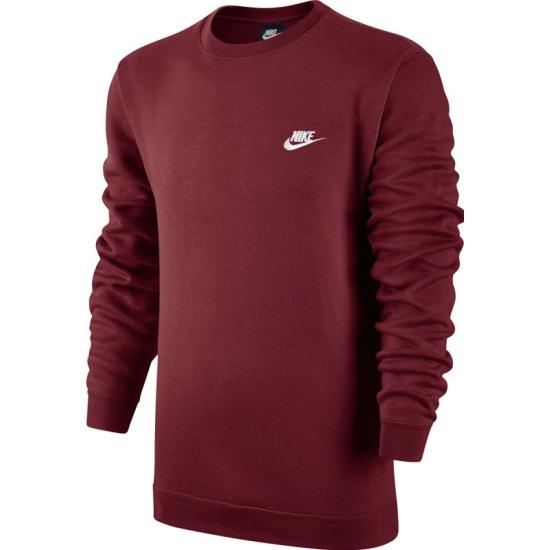 c0ad598eb479 Свитшот NIKE Sportswear Crew 804340-677 мужской, цвет красный, размер 50-52