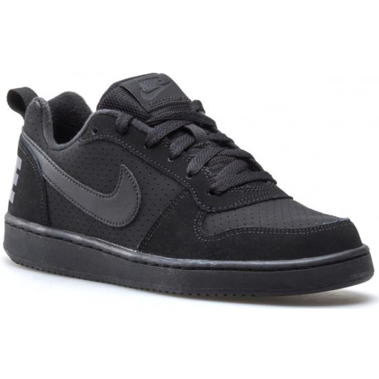 65e8e5ea Кроссовки NIKE 839985-001 Court Borough Low (GS) для мальчика, цвет черный