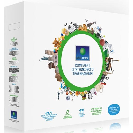 Комплект спутникового телевидения НТВ-ПЛЮС HD SIMPLE 2 (IPTV+SAT), пакет СТАРТ- без абонентской платы- без антенны (Уценка - УП1)