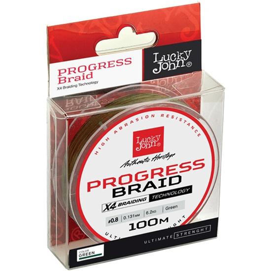 Плетеный шнур Lucky John Progress BRAID Green 100/240 LJ4106-024 - купить по выгодной цене в интернет-магазине ОНЛАЙН ТРЕЙД.РУ Тольятти