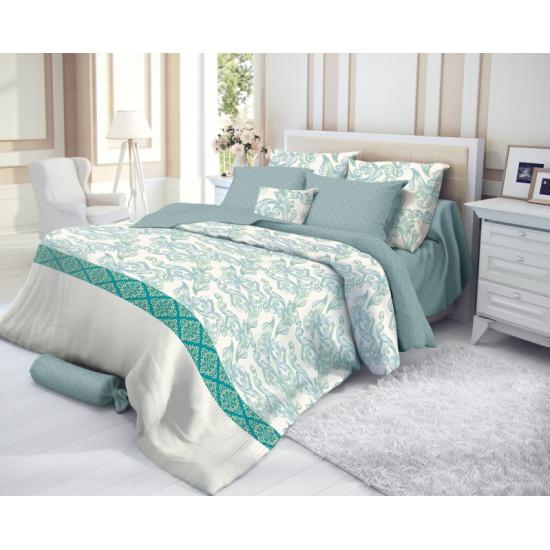 202d750b22fb Двуспальный комплект постельного белья Verossa Сатин Azure с наволочками  70/70 - купить в интернет