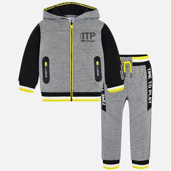 5670e29b Спортивный костюм MAYORAL 4800/10 для мальчика, цвет серый, рост 134 см,