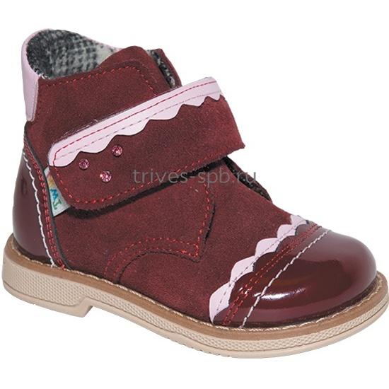 b17685d8a133 Ботинки детские ортопедические TWIKI TW-324 бордовый, размер 17 - купить в  интернет магазине