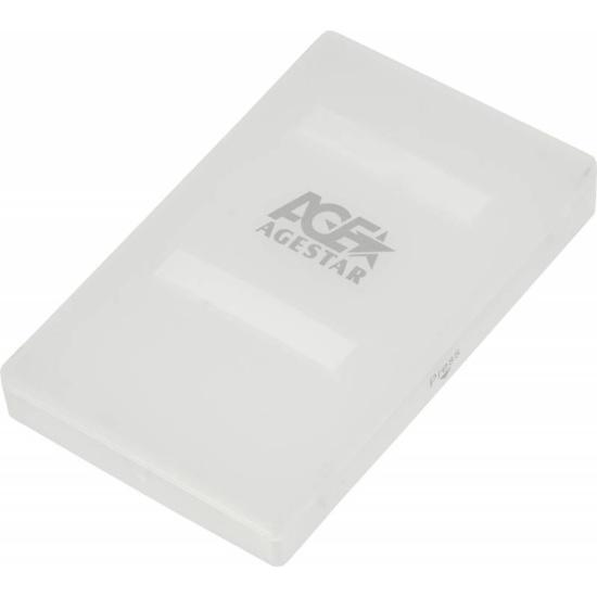 Внешний корпус для HDD/SSD 2.5 AgeStar SUBCP1 пластик белый — купить в интернет-магазине ОНЛАЙН ТРЕЙД.РУ