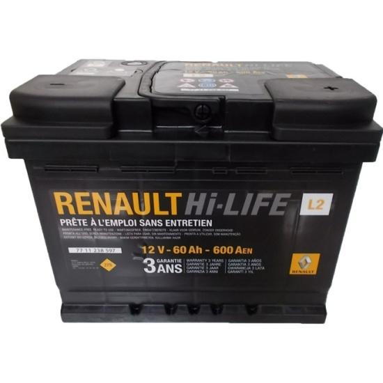 Аккумулятор RENAULT 600A L2 77 11 238 597, обратная полярность 60Aч — купить в интернет-магазине ОНЛАЙН ТРЕЙД.РУ