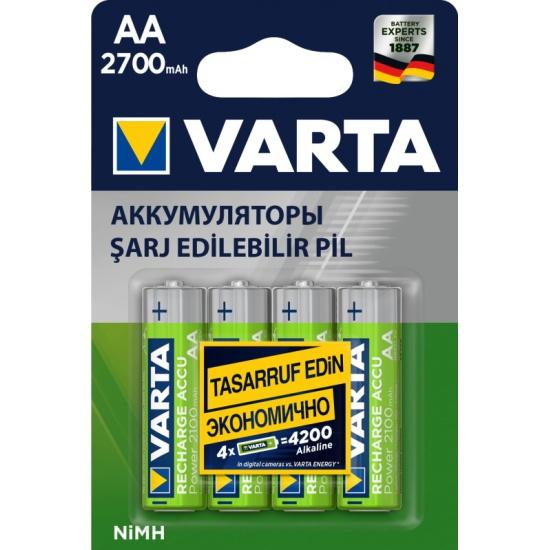Аккумулятор VARTA LR6 AA 2700 mAh (уп 4 шт) — купить в интернет-магазине ОНЛАЙН ТРЕЙД.РУ