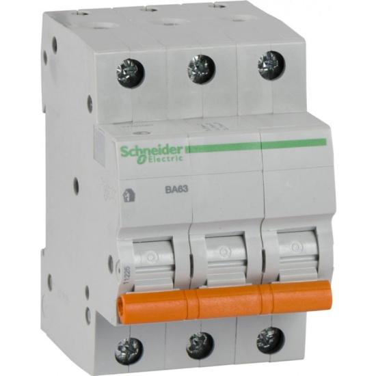 Автоматический выключатель SCHNEIDER ELECTRIC 3п C 25А 4.5кА BA63 Домовой SchE 11225- купить по выгодной цене в интернет-магазине ОНЛАЙН ТРЕЙД.РУ Рязань