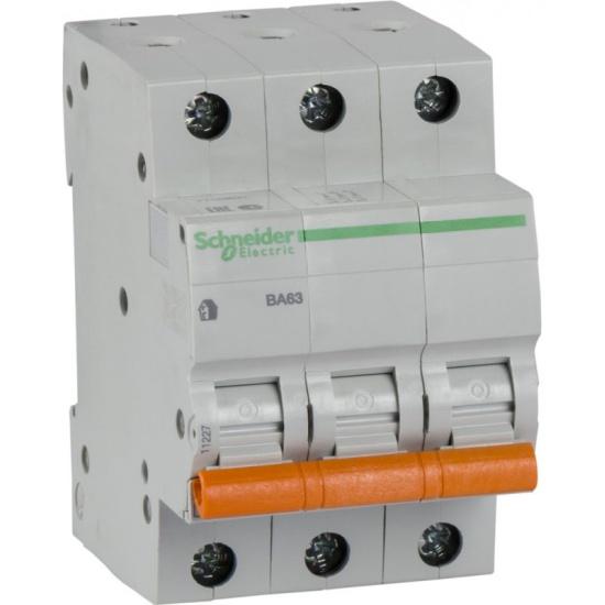 Автоматический выключатель SCHNEIDER ELECTRIC 3p C 40А 4.5кА ВА63 домовой 11227- купить по выгодной цене в интернет-магазине ОНЛАЙН ТРЕЙД.РУ Рязань