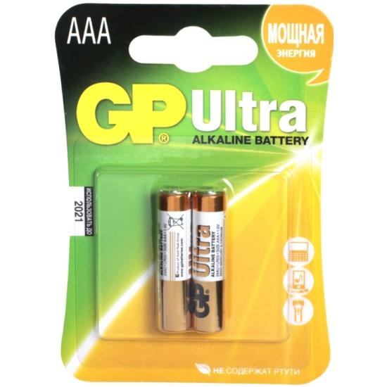 Элемент питания GP Ultra Alkaline LR03 AAA бл 2, 24AU-CR2 — купить в интернет-магазине ОНЛАЙН ТРЕЙД.РУ