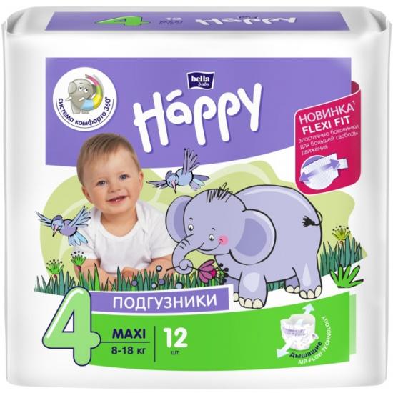 Подгузники Bella (Бэлла) Baby Happy Maxi (8-18 кг) 12 шт. — купить в ... 4329851c171