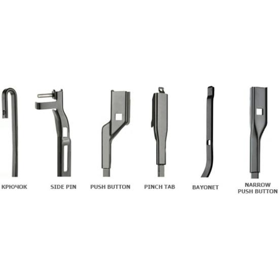 Щетки стеклоочистителя Bosch Aerotwin AR604S, 600мм/450мм, бескаркасная, 2шт, (3397118908) - фото 7