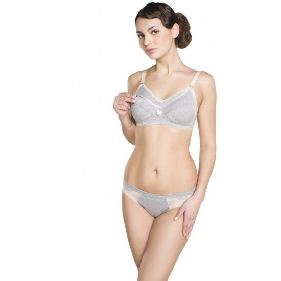245cbdf96ffde Бюстгальтер послеродовой ФЭСТ размер (75-B) серый меланж - купить в  интернет магазине