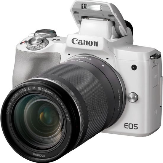 Цифровой фотоаппарат Canon EOS M50 Kit 18-150 IS STM White 2681C042 - низкая цена, доставка или самовывоз по Калуге. Цифровой фотоаппарат Кэнон EOS M50 Kit 18-150 IS STM White купить в интернет магазине ОНЛАЙН ТРЕЙД.РУ