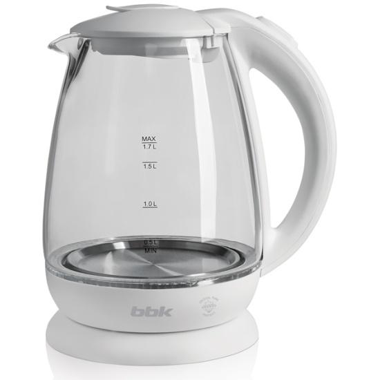 Чайник электрический bbk ek1725g, 2200 вт, белый