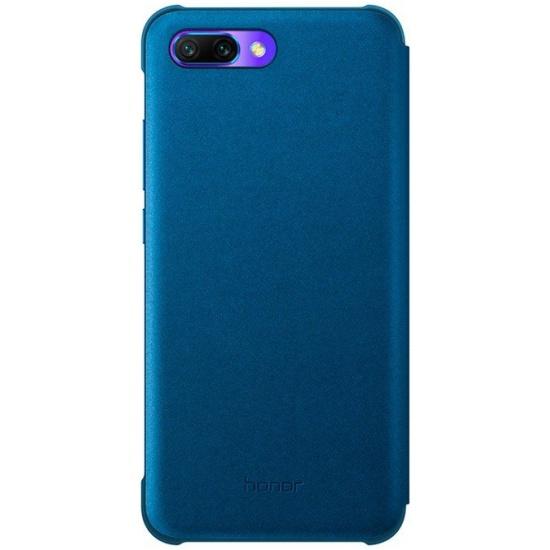 6fed435fd7b8f Чехол-книжка Huawei Honor 10, синий - купить в интернет магазине с  доставкой,
