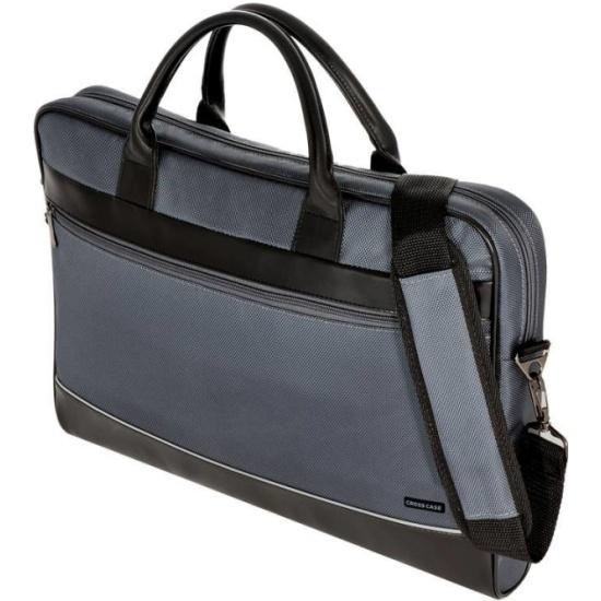d5c6716a6c78 Сумка для ноутбука Cross Case CC17-014, серая/чёрн. кожа — купить в ...
