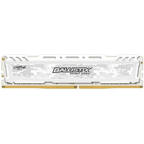 Оперативная память Crucial DDR4 4Gb 2400MHz pc-19200 Ballistix Sport White (BLS4G4D240FSC) — купить в интернет-магазине ОНЛАЙН ТРЕЙД.РУ