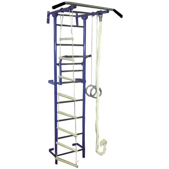 Детский спортивный комплекс Крепыш плюс Г пристенный-1 синий - купить в интернет магазине с доставкой, цены, описание, характеристики, отзывы