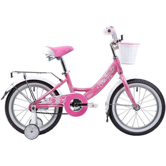 """Детский Велосипед Novatrack 16"""" GIRLISH, розовый"""