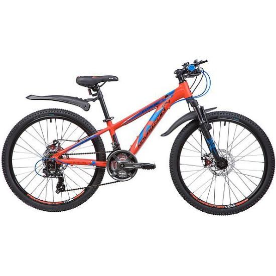 """Подростковый велосипед Novatrack 24"""" EXTREME, оранжевый 11"""