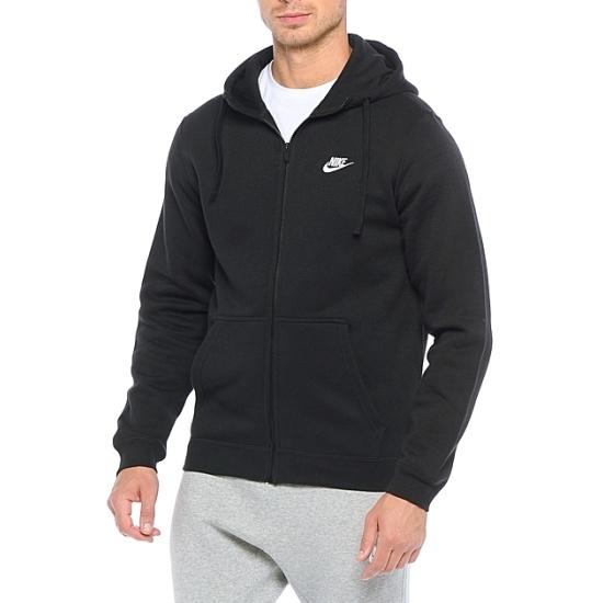 b7fea0e0 Джемпер NIKE M NSW HOODIE FZ FLC CLUB 804389-010 мужской, цвет черный,